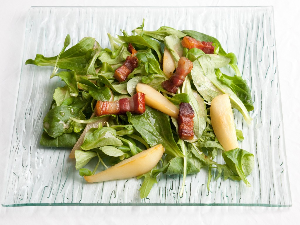 Feldsalat mit Birnen